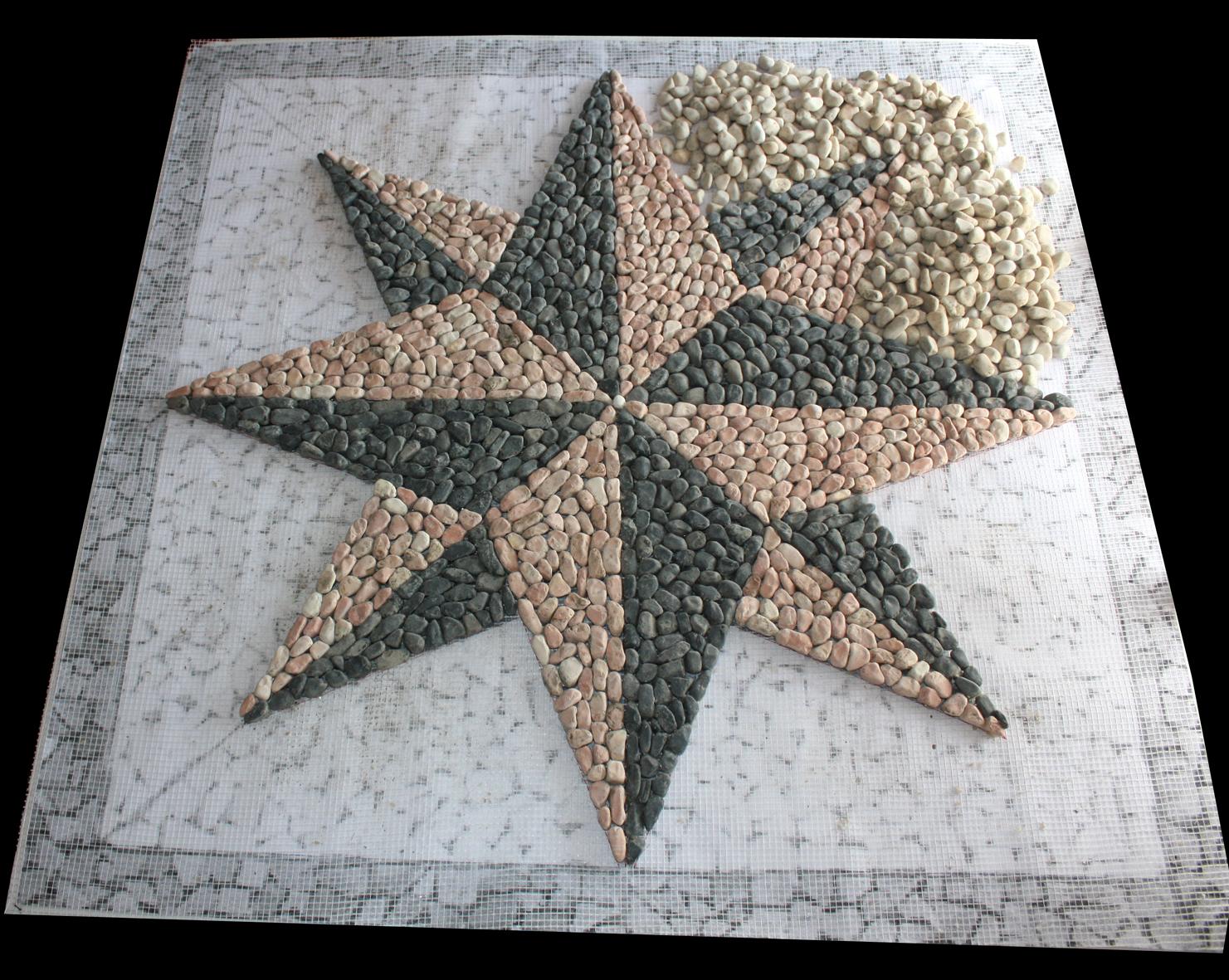 Piastrelle mosaico con rete piastrelle di marmo mosaico bianco
