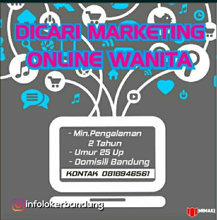 Lowongan Kerja Marketing Online Wanita Mimaki Bandung Agustus 2018
