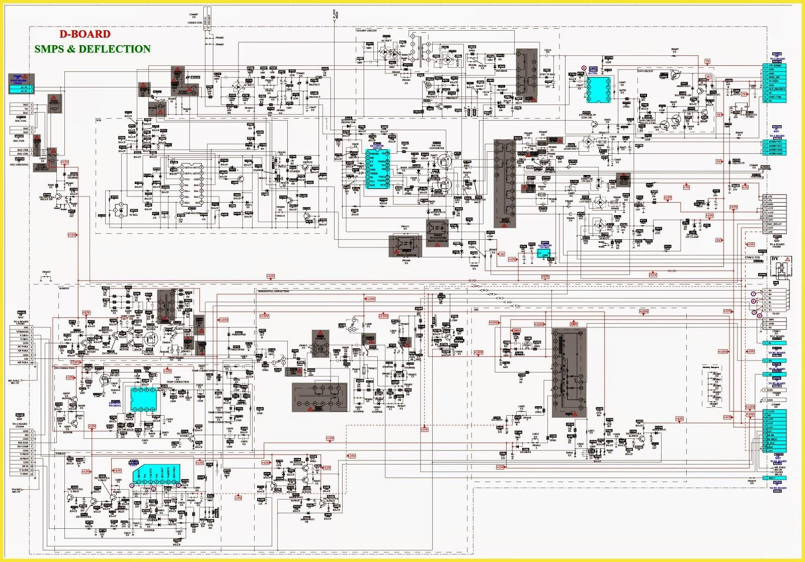 Lg Tv Wiring Diagram Periodic Diagrams Science 19 Inch Lcd Monitor Power Supply Schematic Circuit Sony Wega Trinitron Kv Da322m66 Da322m64 Reset Smps And