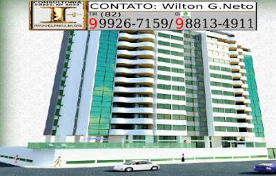 Apartamentos a venda, Maceió, Alagoas, bairro Farol, edf. Palazzo San Pietro-fachada