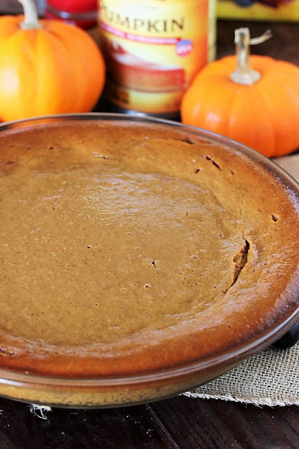 Baked Impossible Pumpkin Pie in Pie Dish Image
