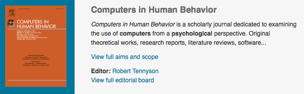 Education Elearning 2 0 Computers In Human Behavior