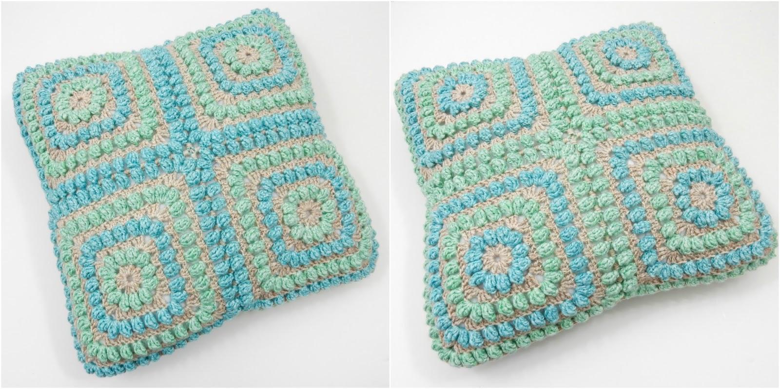 Squishy Popcorn Cushion: Free Crochet Pattern | TheCurioCraftsRoom