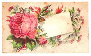 rose digital label design download