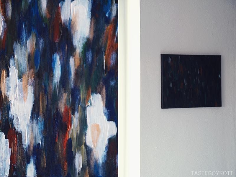 Übers Malen: Abstrakte selbstgemalte Bilder auf Leinwand