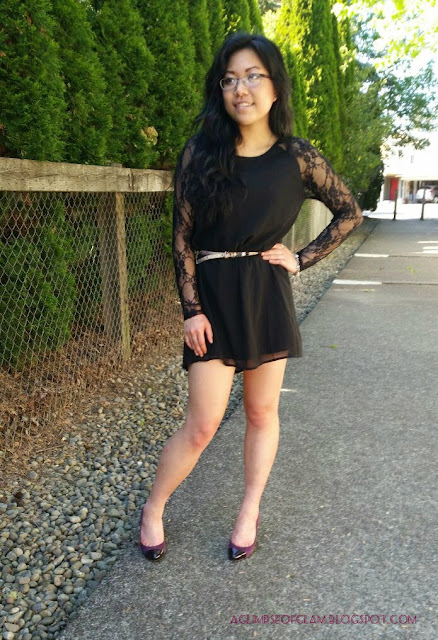 OOTD LBD with Lace Sleeves from Banggood - Andrea Tiffany aglimpseofglam