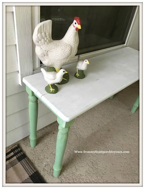 Ikea Table Makeover-Patio-Table-DIY-Pitaschio-Green-From My Front Porch To Yours