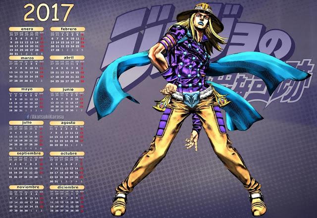 gyro zeppeli calendar jojo sbr steel ball run