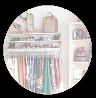 Guarda-roupa bem organizado e visualmente apelativo
