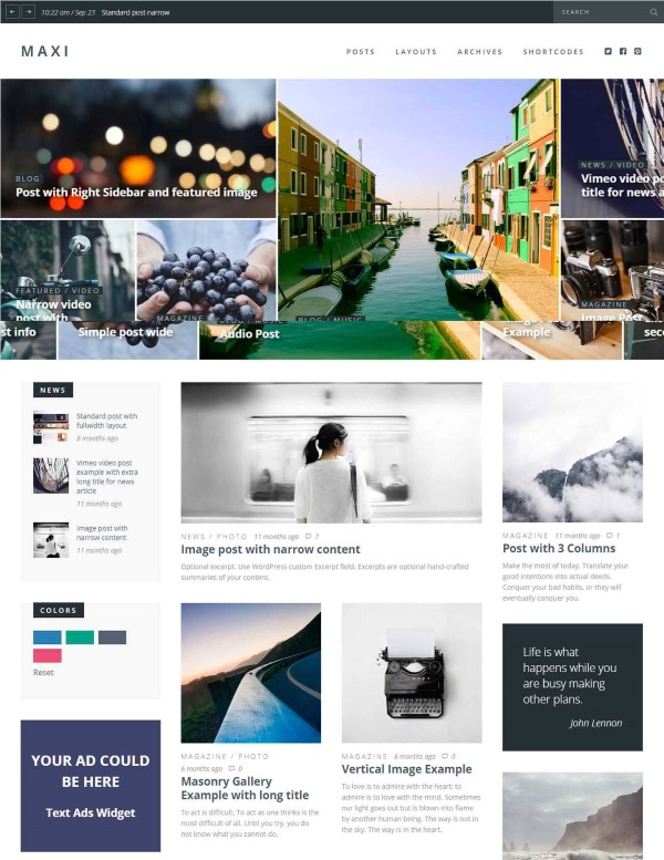 Maxi wordpress theme