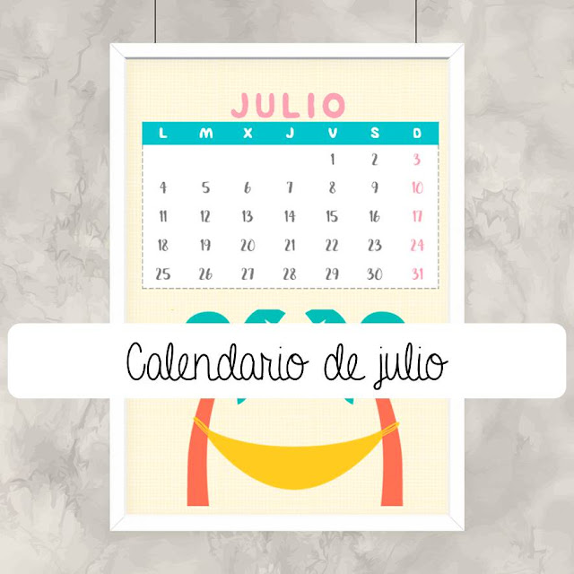 Calendario Julio 2019 Mr Wonderful.Calendario Imprimible De Julio Mi Ventana Favorita