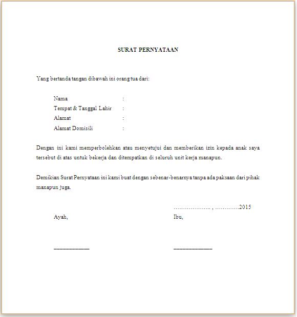 Contoh Surat Pernyataan Sanggup Ditempatkan Dimana Saja ...