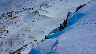 Winter climbing on Central Couloir Direct on Cnap Coire na Spreidhe