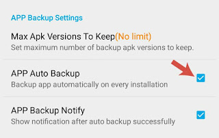 Enable auto backup