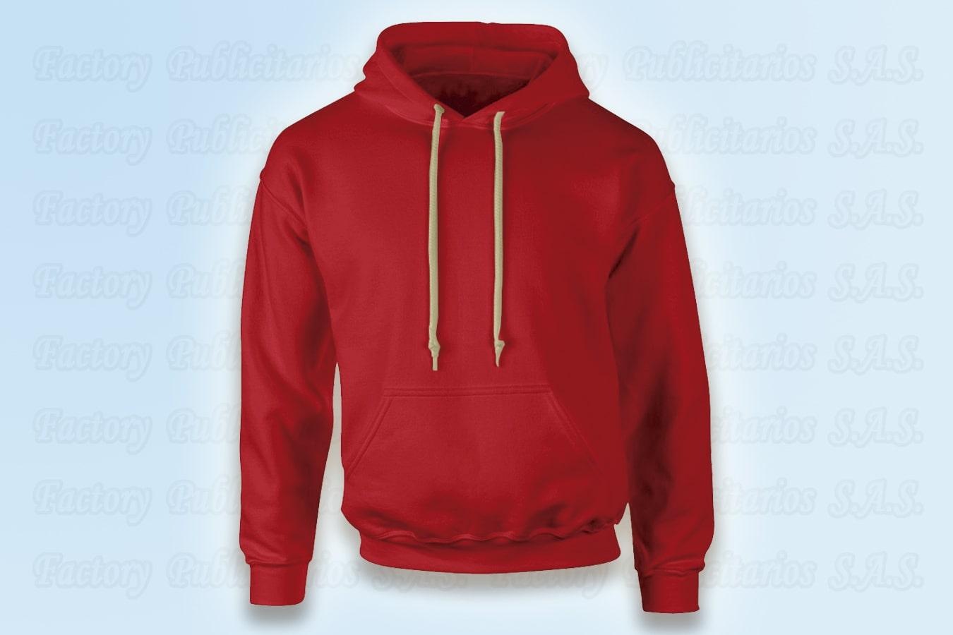 buzos con capota roja