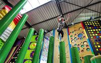 Clip 'N Climb climbing theme park in the Smokies