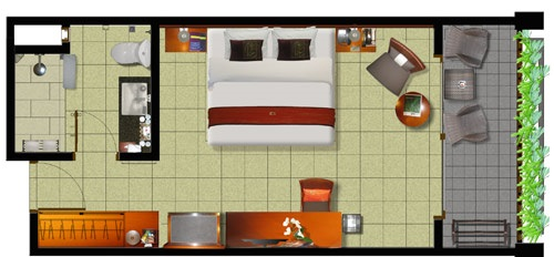 Foundation dezin decor standard hotel room plan for Apartment design map