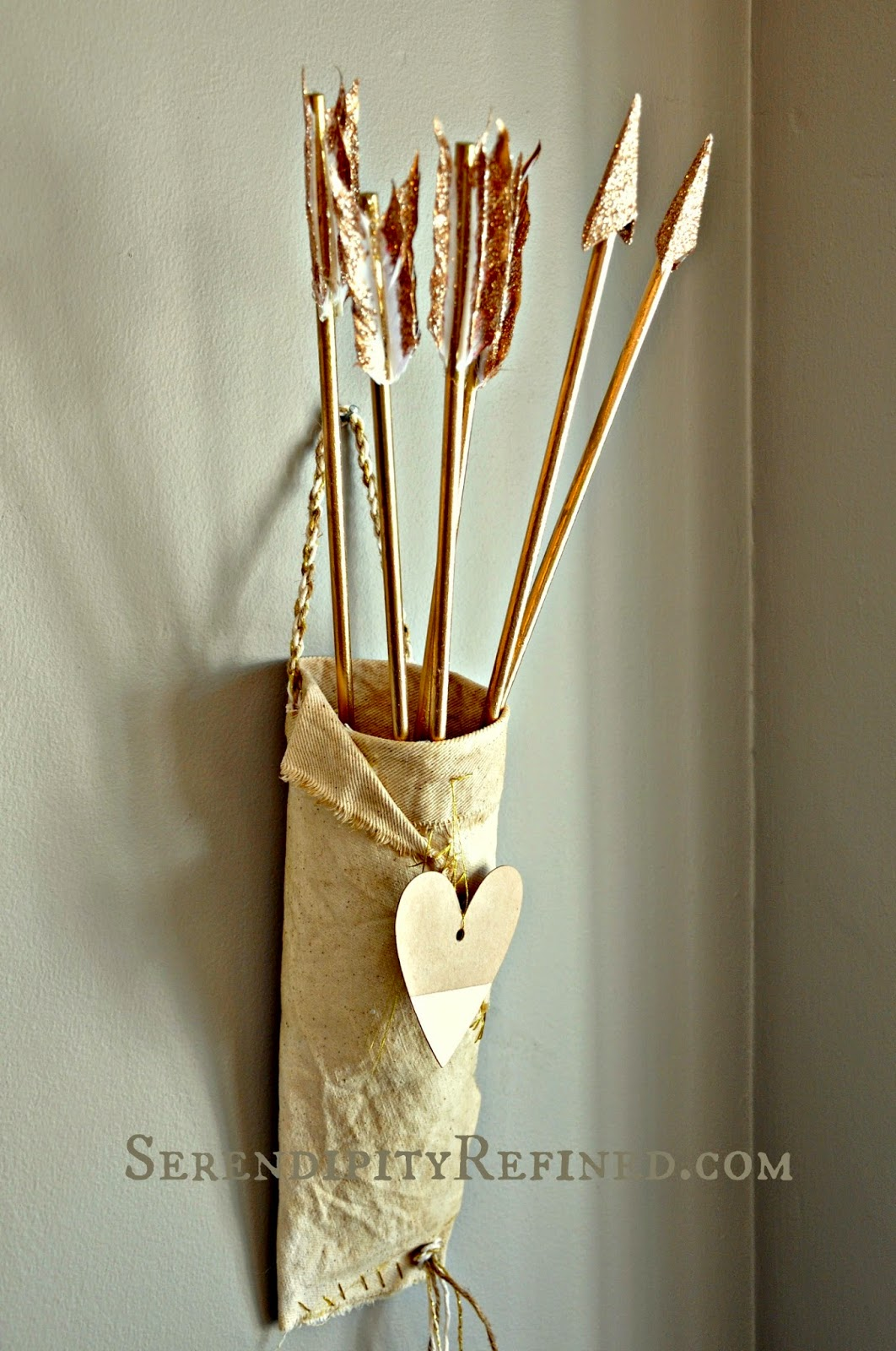Serendipity Refined Blog Diy Valentine S Day Decor Cupid Arrows And Quiver