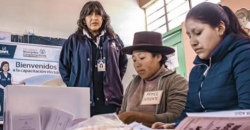 ONPE ofrecerá segunda jornada de capacitación a miembros de mesa - www.onpe.gob.pe