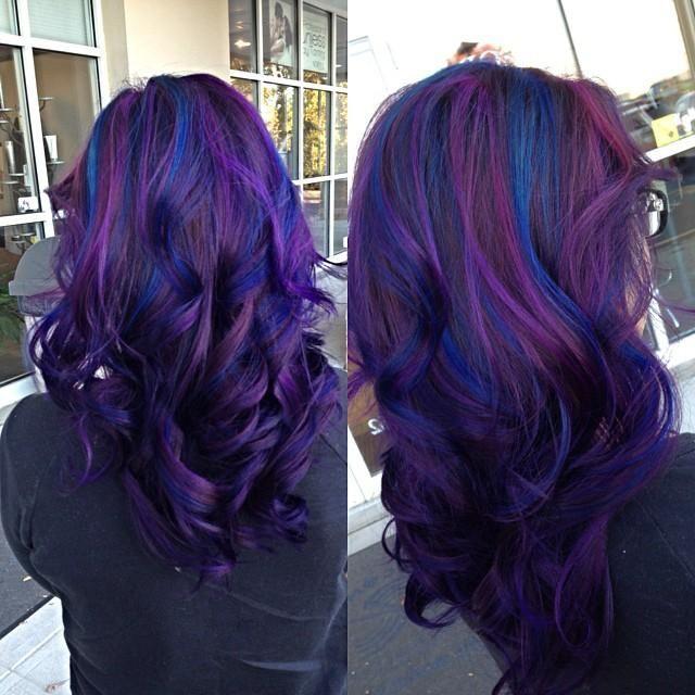 Superb Black Amp Purple Hairstyles A Gorgeous Combination Short Hairstyles Gunalazisus