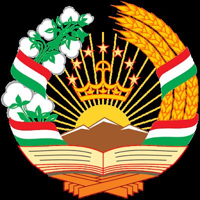 Coat of arms - Flags - Emblem - Logo Gambar Lambang, Simbol, Bendera Negara Tajikistan