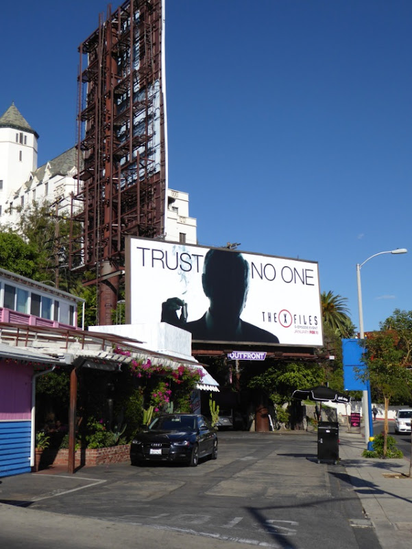 The X-Files Trust No One billboard
