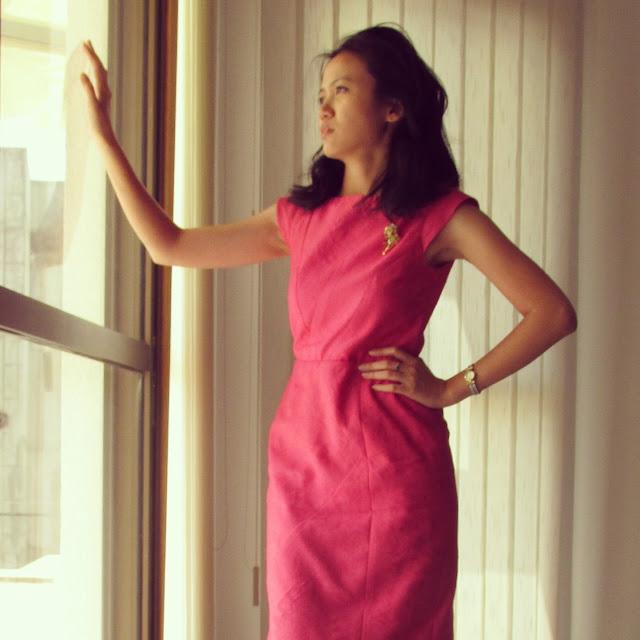 Darlene made this: Burdastyle Geometric Dress