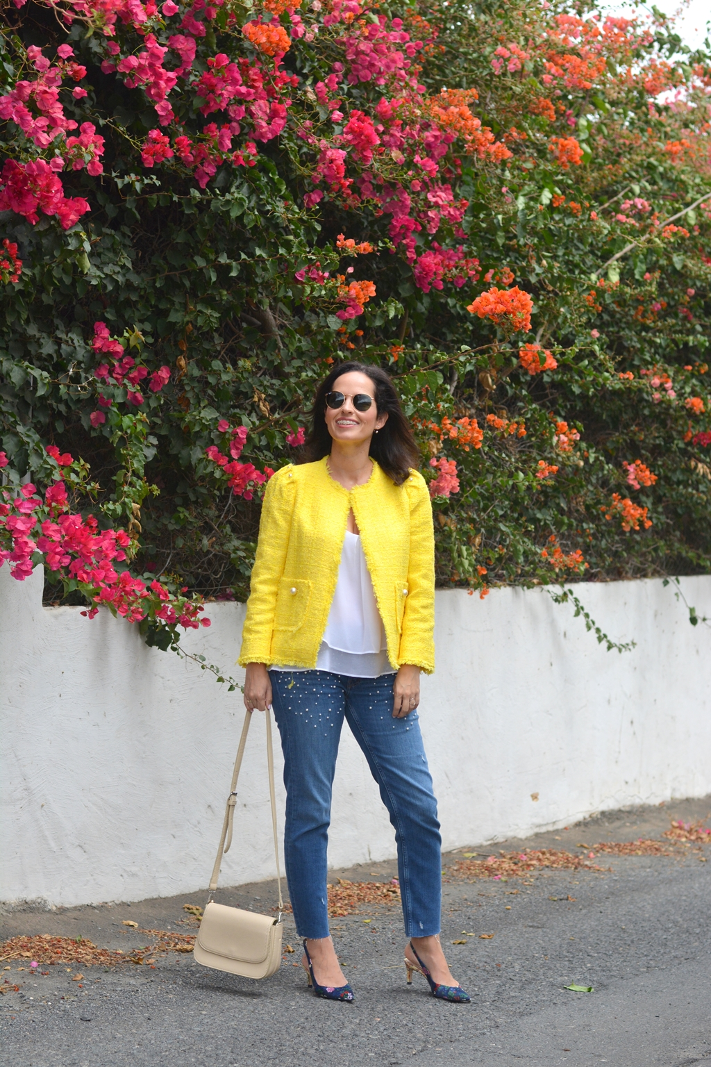 zara-yellow-tweed-jacket-outfit