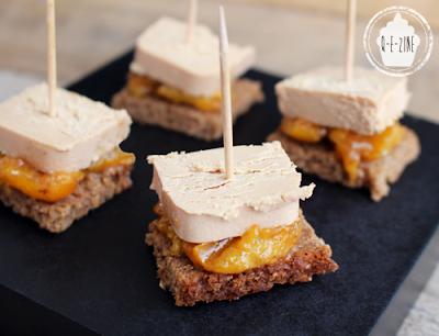 bouchées mirabelle foie-gras