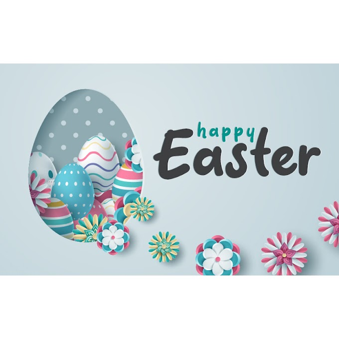 Decorative easter card illustration free vector