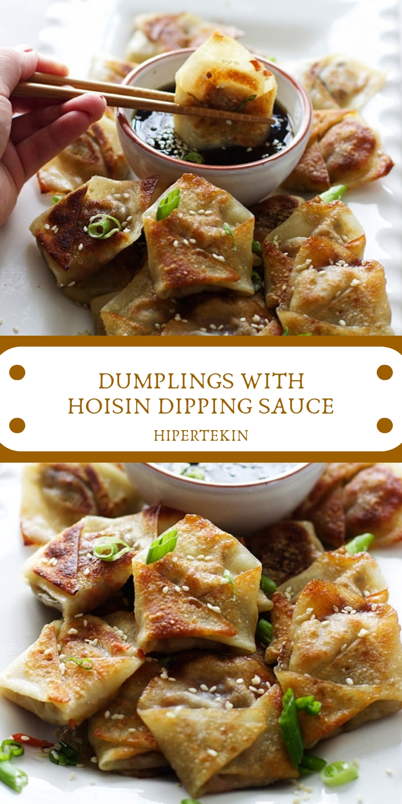 DUMPLINGS WITH HOISIN DIPPING SAUCE