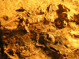 Remains of several men recovered at Loos in 2005