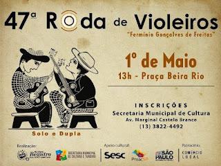 Pelo segundo ano, a Praça Beira Rio será palco da Roda de Violeiros