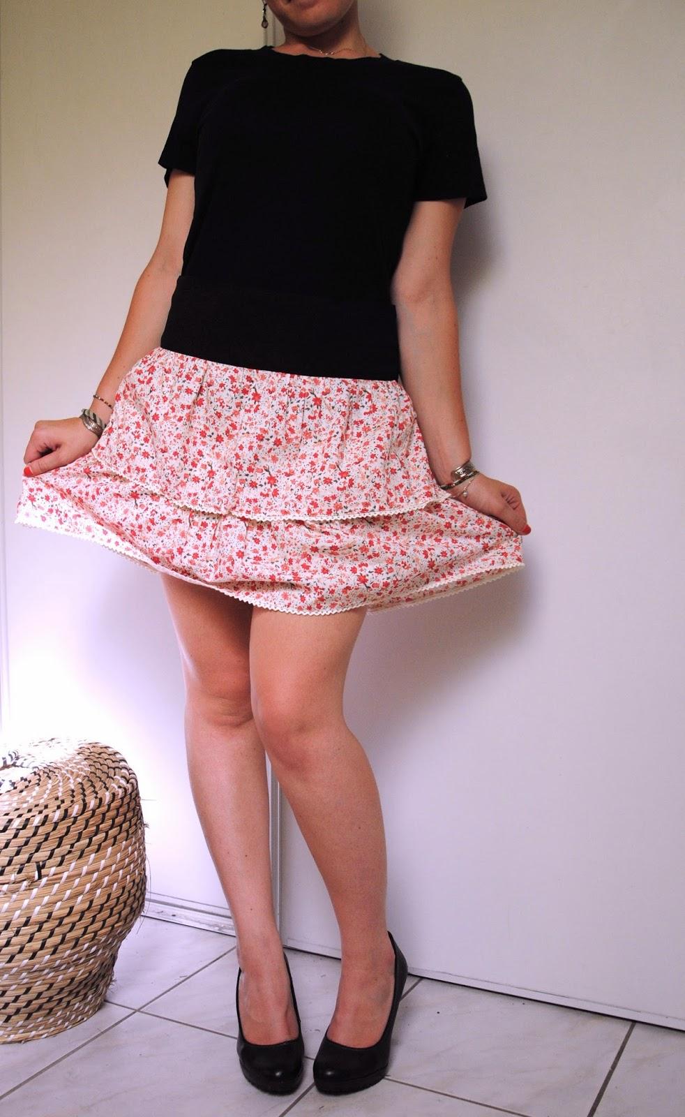 Couture à volants jupe femme