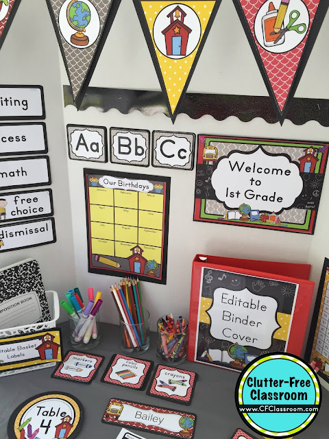 Classroom Decoration Free ~ Chalkboard themed classroom ideas printable