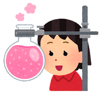 科学・理科の実験のイラスト(女の子)
