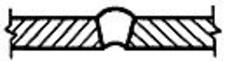 Дефект в виде углубления на поверхности обратной стороны сварного одностороннего шва