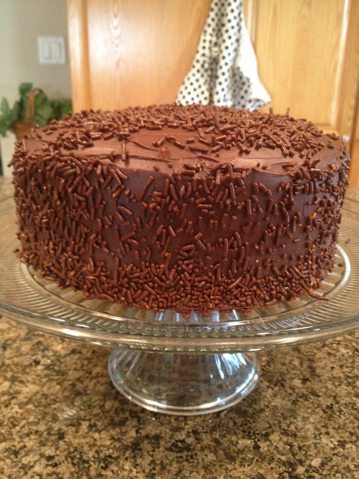 Cards And Cardigans Chocolatey Birthday Cake