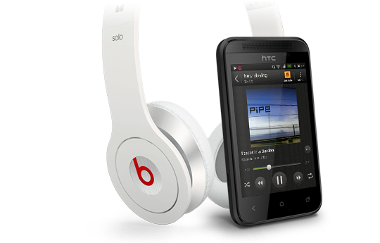 HTC Desire 200 coupled with beats headphones