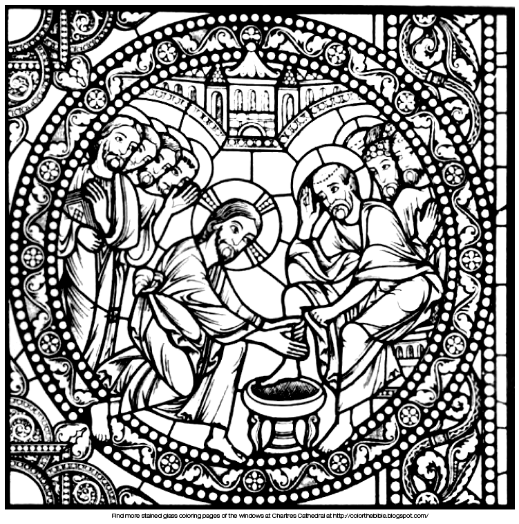 Pin Jesus Washes The Disciples Feet Coloring Page Pages On