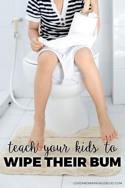 TEACH YOUR KID TO WIPE THEIR BUM