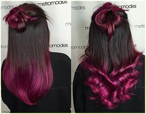 Two tone hair color dark on top light on bottom hair color ideas pink ombre two tone hair two tone hair color ideas for long hair solutioingenieria Images