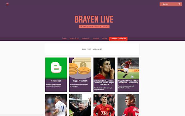 Brayen Live Responsive Blogger Template