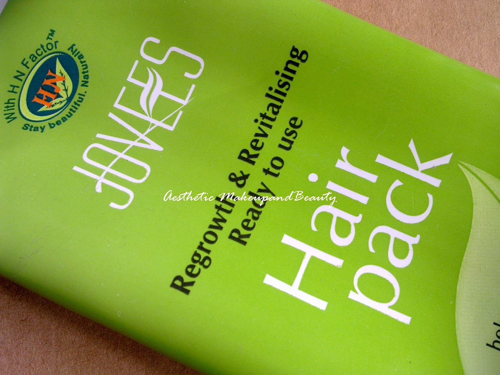 12aee70dfbe Aesthetic: Jovees Regrowth & Revitalizing Ready to use Hair Pack Review