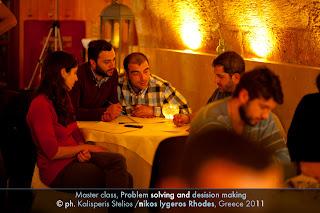 Νικος Λυγερος Master class Ροδος - Ανάλυσης Πληροφορικής - Αλγοριθμικής - Σύγχρονο Θέατρο και Ομαδικότητα - Problem Solving and Decision Making,Nikos Lygeros Rodos Master classes