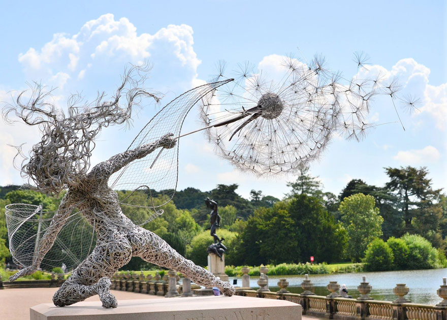 42 Of The Most Beautiful Sculptures In The World - Dramatic Fairy Sculpture Dancing With Dandelion By Robin Wight, Uk