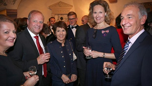Principality family members of Liechtenstein, Prince Hans-Adam, Princess Marie, Prince Alois and Princess Sophie at New Year reception
