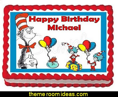 Dr Seuss Edible Cake Topper Sheet