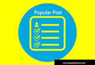 Cara Agar Popular Post Berada Dalam Kotak Scroll
