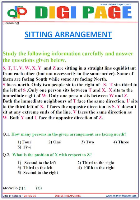 Digi Page - Seating Arrangement